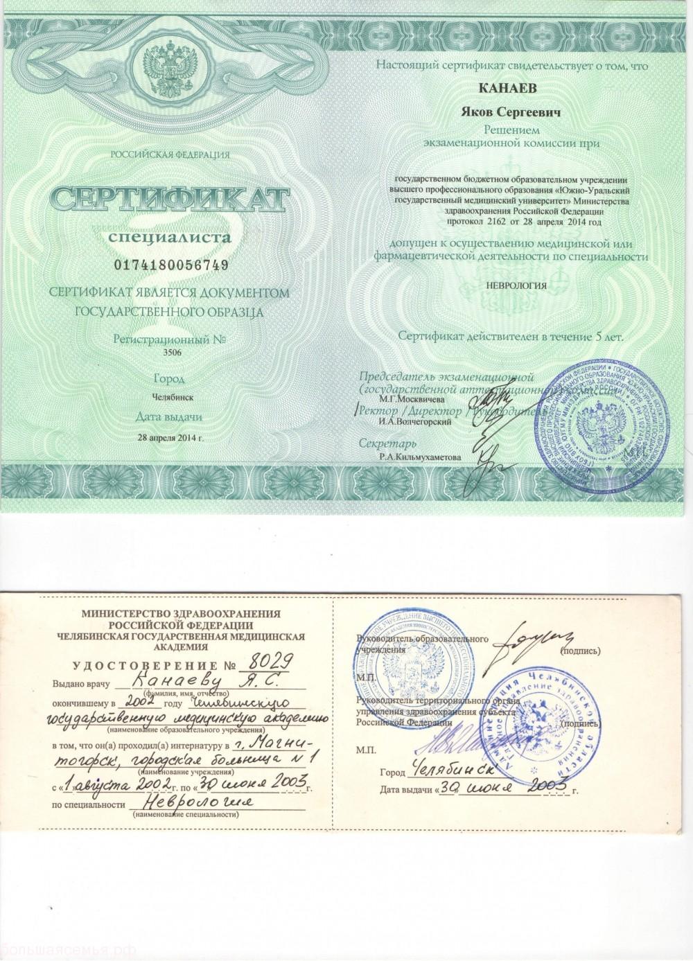 Канаев Яков Сергеевич невролог, физиотерапевт - 3